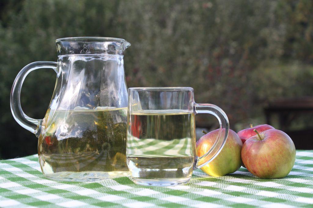apple cider in pitcher
